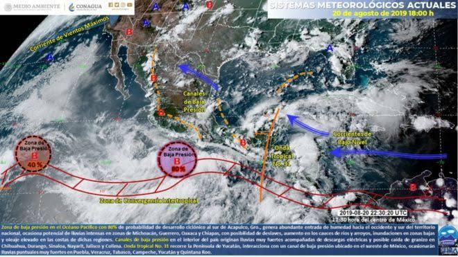 Prepárate, nuevo ciclón se forma en las Costa de Oaxaca