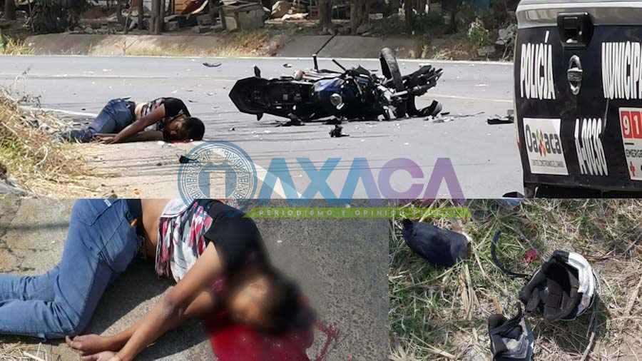 Pierde la vida motociclista impactado por Volteo en el río Salado, Oaxaca