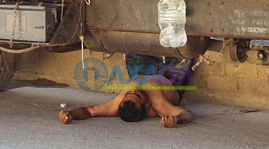 Ejecutan a hombre en Pueblo Nuevo, Oaxaca