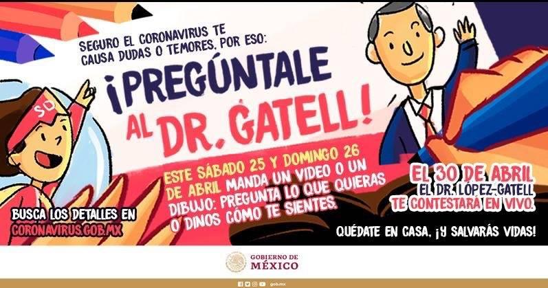 Hugo López-Gatell responderá dudas de niños el 30 de abril