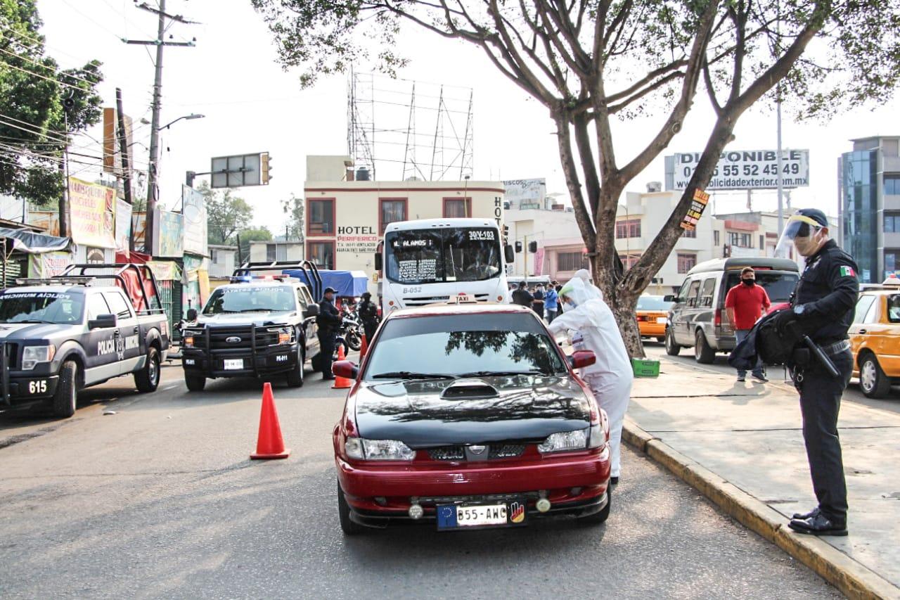 SSPO en coordinación con el municipio instalan filtros sanitizantes en la Central de Abasto