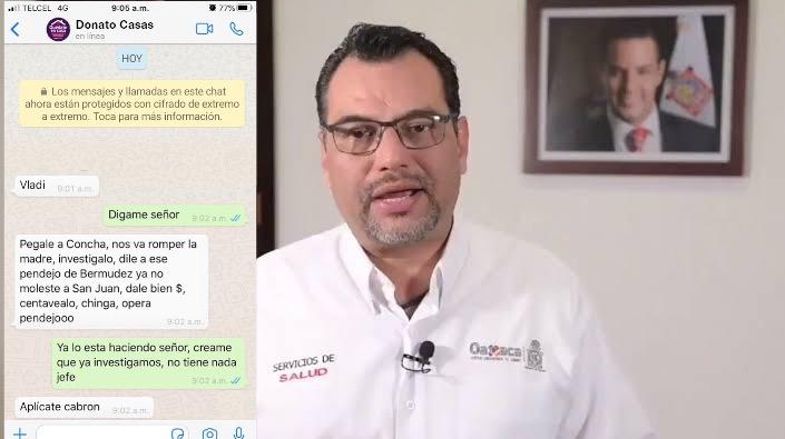 Filtran conversaciones de Donato Casas y su lucha por mantener el control de los SSO