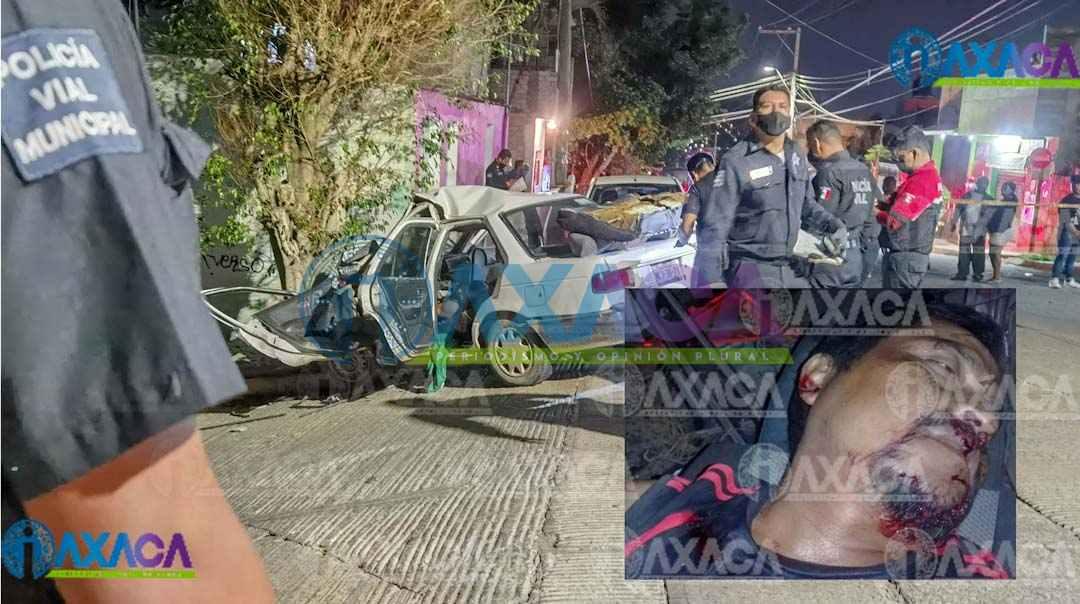 Hombre pierde la vida al chocar contra árbol en San Martín Mexicapan