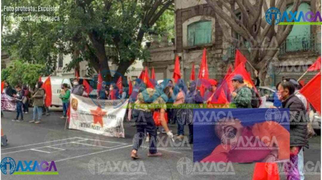 FPR protesta en la CDMX: exigen justicia por líder asesinado en Oaxaca
