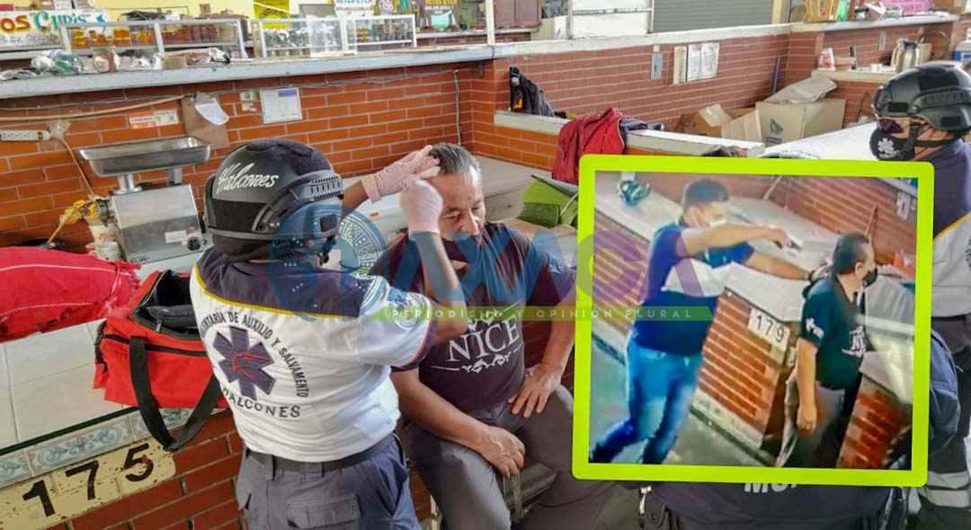 Violento asalto al interior del Mercado de las Flores, Oaxaca