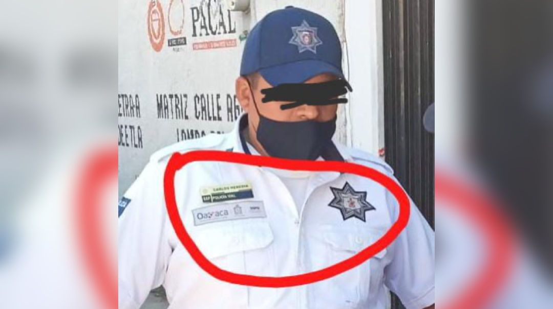 Detienen a persona que portaba uniforme de Policía Vial en Cacaotepec