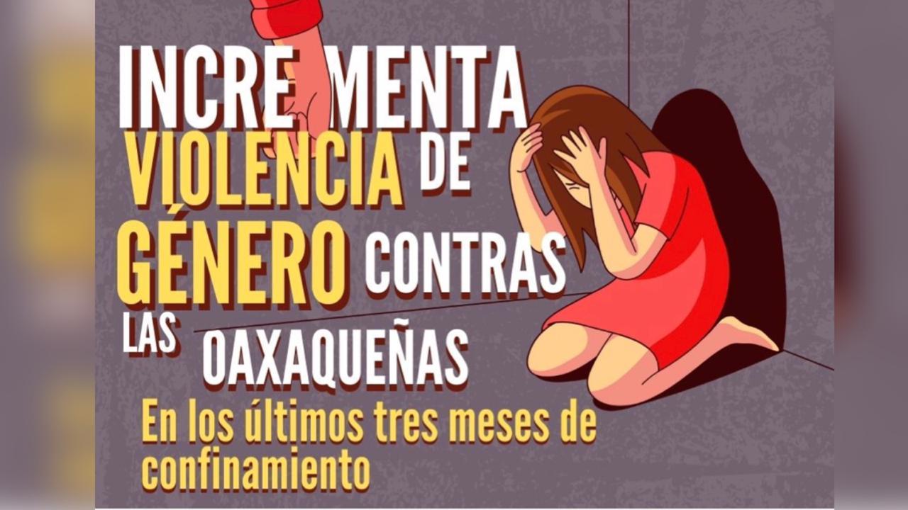 Aumentan violencia familiar y delitos sexuales contra oaxaqueñas en confinamiento.
