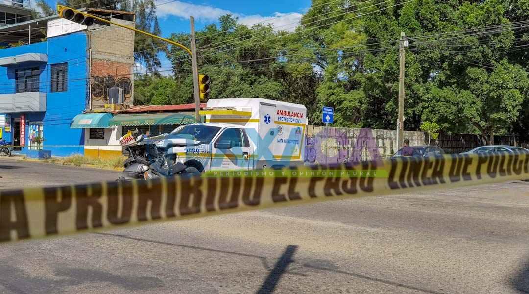 En choque pierde la vida mujer cuando era trasladada a un hospital