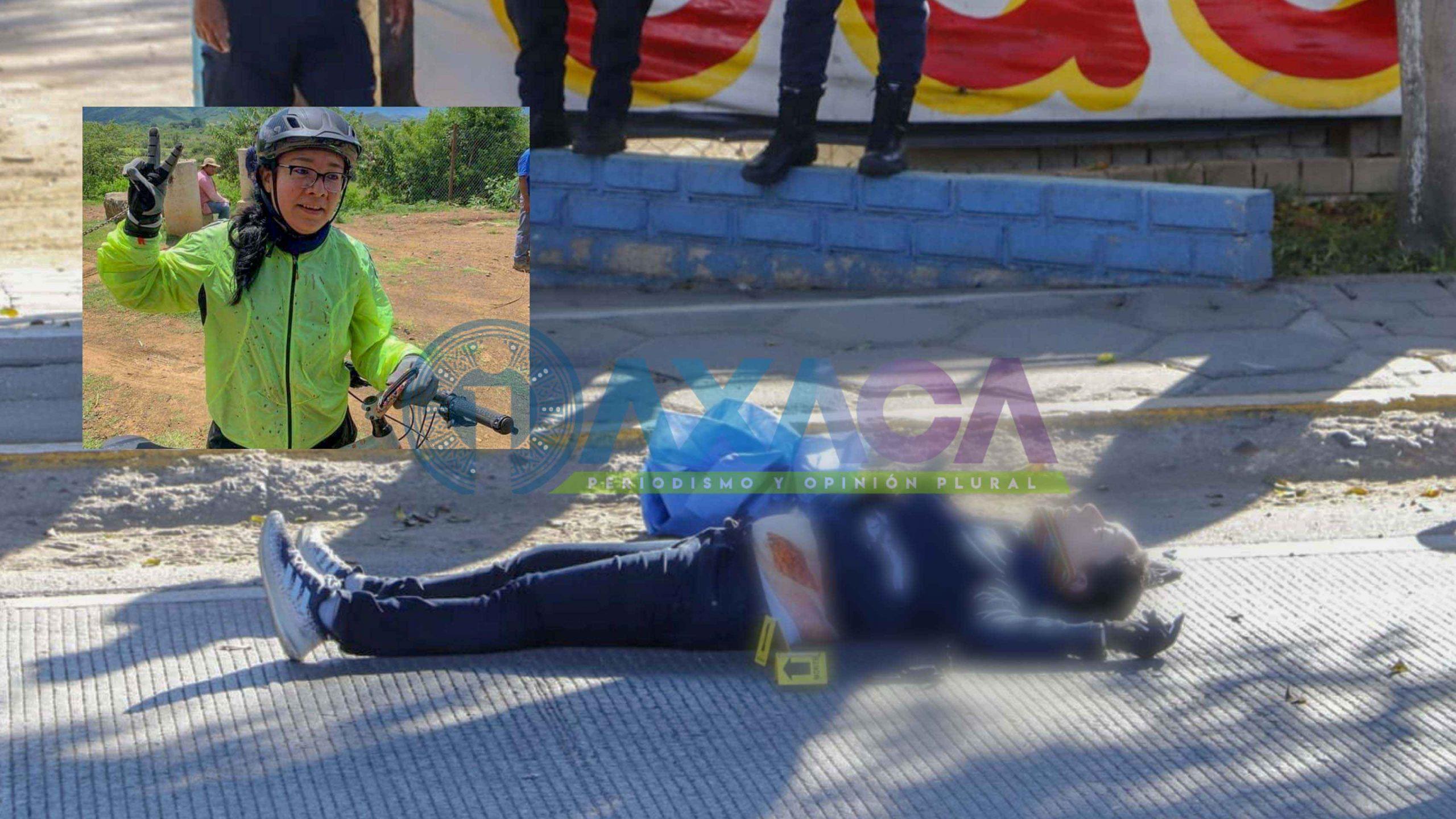 Identifican a mujer ciclista que falleció atropellada en Xoxocotlán, Oaxaca